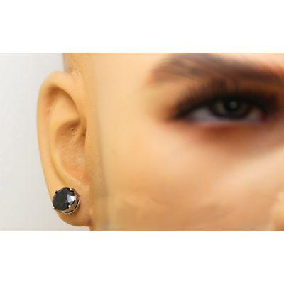 Boucles d'Oreilles pour Homme Diamant Noir Hip Hop