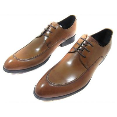 Chaussures de costume en cuir simples avec lacets - marrons