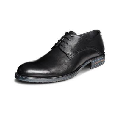 Chaussures de costume en cuir arrondies avec détail or - marrons