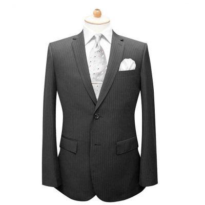 Costume sur mesure pour homme rayures fines - blend laine 50%