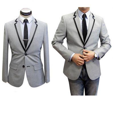 Costume sur mesure cintré homme lapel bordé - 100% laine