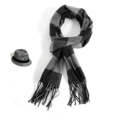Echarpe hiver pour homme ou femme avec motif à carreaux