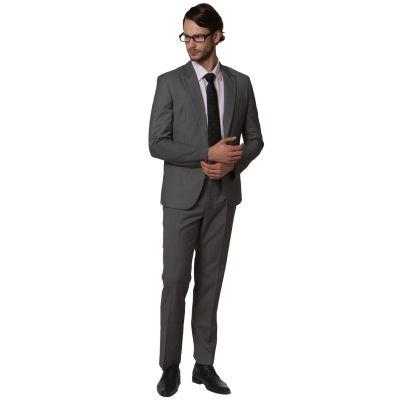 Costume slim pour homme Gris ou Noir Veste Cintrée Coupe Classique