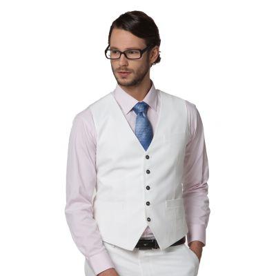 Gilet de costume homme col V avec fermeture longue 5 boutons