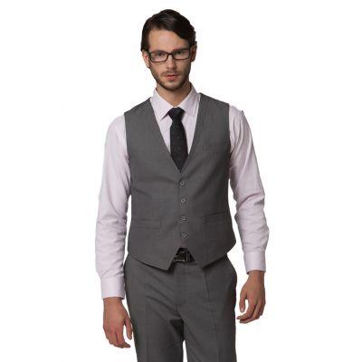 Gilet de costume cintré pour homme avec fermeture 4 boutons