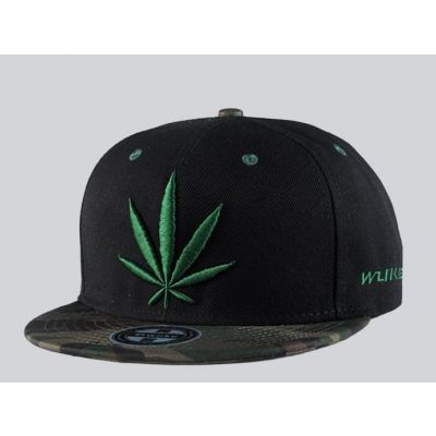Casquette Baseball Cannabis Feuille de Weed Visière Camo