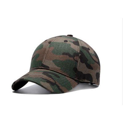 Casquette camouflage militaire vert marron visière arrondie