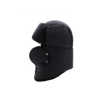 Chapeau épais d'hiver pour homme protège-visage cagoule