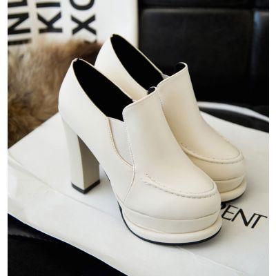 Chaussures à talon compensées fermées pour femme Simili cuir