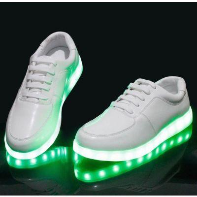 Chaussures Baskets LED Semelle à Lumière Rouge Vert Bleu