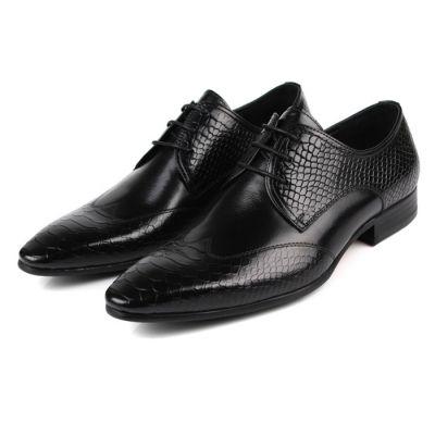 Chaussures de Costume Homme Cuir effet Ecaille