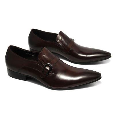 Chaussures de Ville à Brides Fermeture Sangle en Cuir Homme