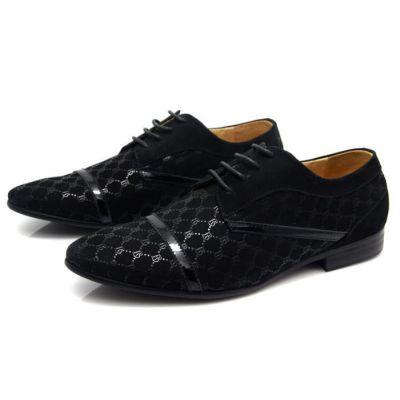 Chaussures Derby Homme Cuir avec Motif à Carreaux