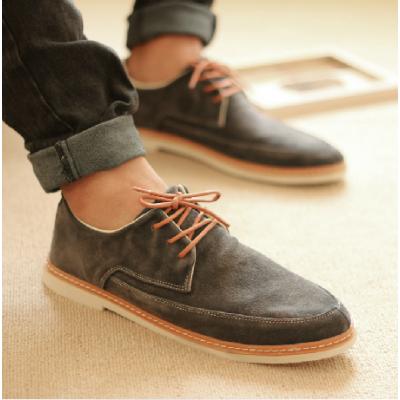 Chaussures Derby Vintage pour Homme Semelle Blanche