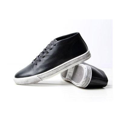 Chaussures Homme Cuir Sport Vintage Semelle Blanche