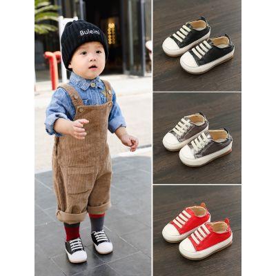 Chaussures pour bébé à lacets slip-on avec embout blanc