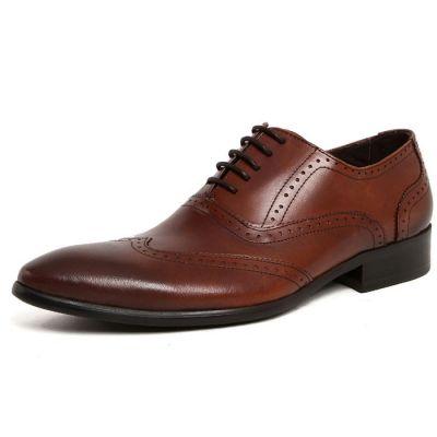 Chaussures Richelieu Classiques Effet Perforations Cuir