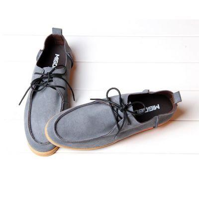 Chaussures toile vintage pour homme avec lacets fins cuir