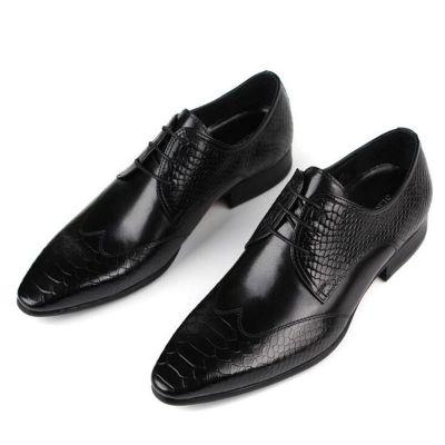 Chaussures de costume homme avec effet écailles