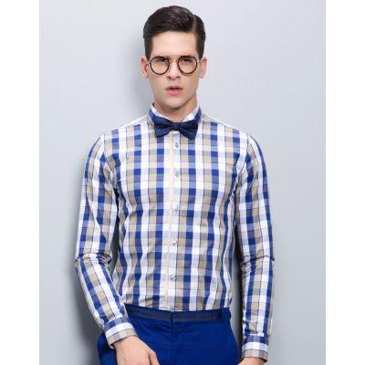 Chemise à Carreaux Fashion pour Homme Manches Longues