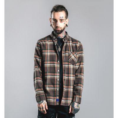 Chemise à carreaux flanelle hiver pour homme manches longues
