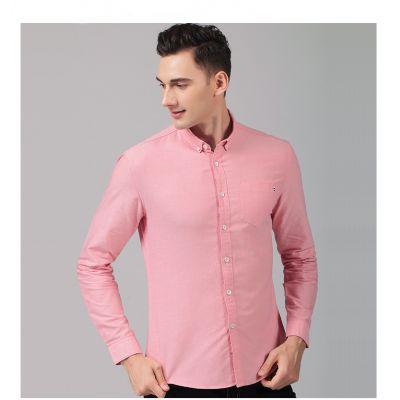 Chemise cintrée détail pochette pour homme 100% coton