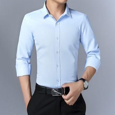Chemise classique à manches longues pour homme
