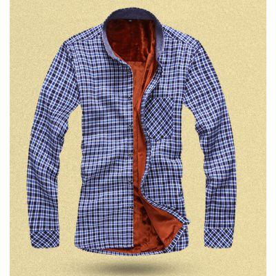 Chemise hiver pour homme avec intérieur doublé fourrure