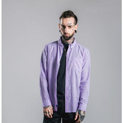 Chemise manches longues pastel pour homme avec poche poitrine