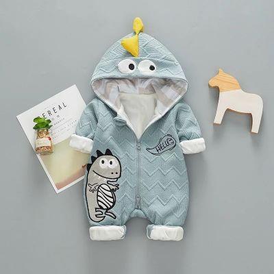 Combinaison dinosaure pour bébé en tricot pour hiver knitwear enfant