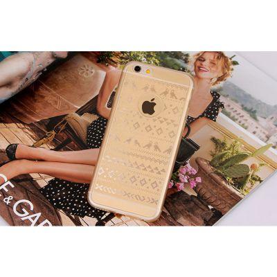 Coque iPhone 6 ou 6 Plus Motif Hiver Etoiles Retro Argent Noir ou Or