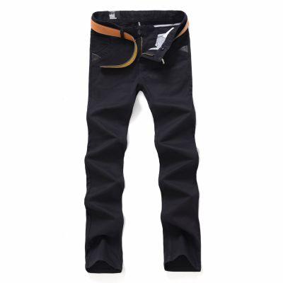 Pantalon en jeans pour homme coupe slim - Beige Vert Noir