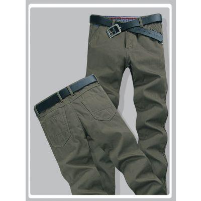 Jeans pour homme coupe droite Pantalon slim - Vert foncé