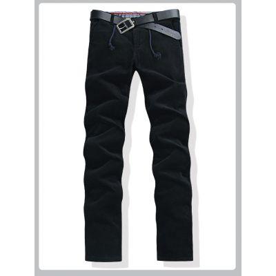 Pantalon en velours pour homme pants été léger - Noir