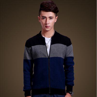 Gilet fashion pour homme avec fermeture zip bandes tricolores