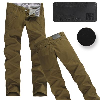 Jeans pour homme pantalon cotton denim slim fit Beige Olive Noir