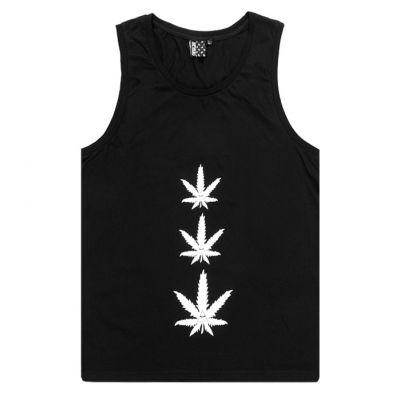 Débardeur Tanktop Homme Femme Weed Feuille de Cannabis Ganja