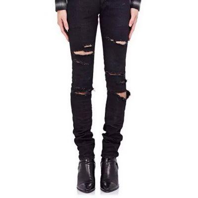 Jeans Slim Troué effet usagé pour homme dechirure