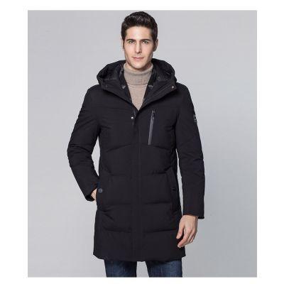 Doudoune à capuche longue épaisse pour hommes