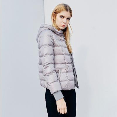 Doudoune à capuche simple matelassée pour femme tendance hiver