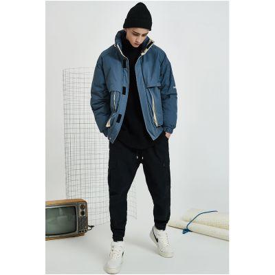 Doudoune hiver streetwear pour homme avec longues poches avant
