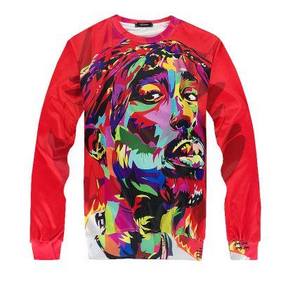 Pullover jogging Homme Tupac Peinture Portrait Imprimé