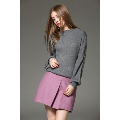 Ensemble pullover knitwear et jupe pour femme tendance printemps