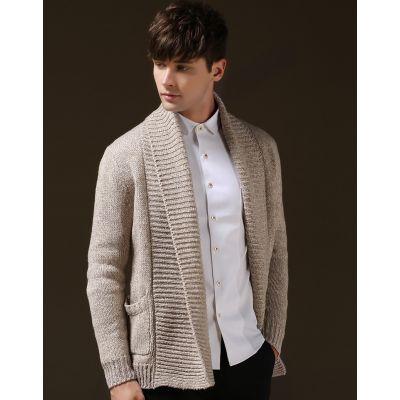 Gilet en tricot pour homme avec col large effet écharpe