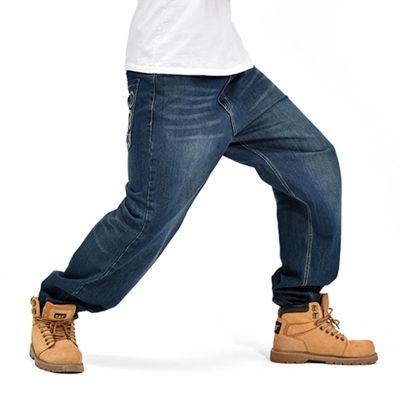 Jean ample streetwear pour homme avec impression sur poche arrière