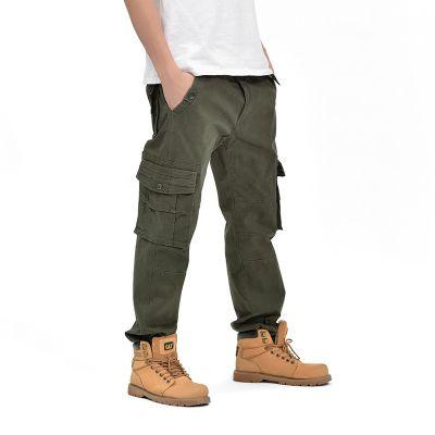 Jeans Baggy Cargo pour homme largeur moyenne avec coupe droite
