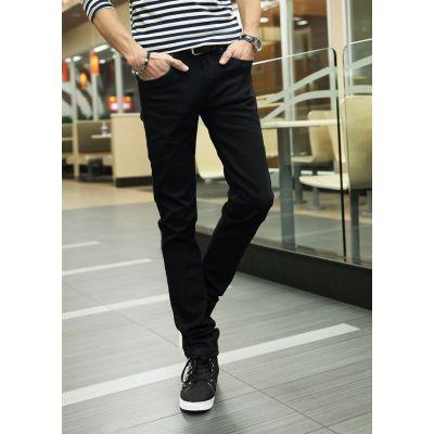 Jeans slim noir pour homme coupe skinny classique