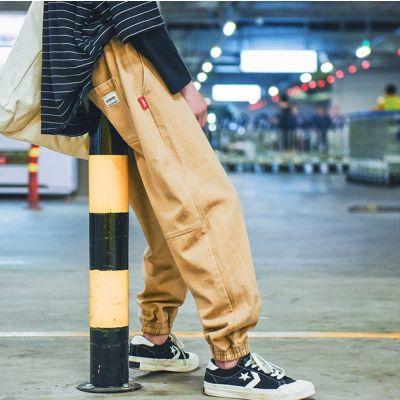Jogger pants baggy en coton pour homme avec chevilles élastiques