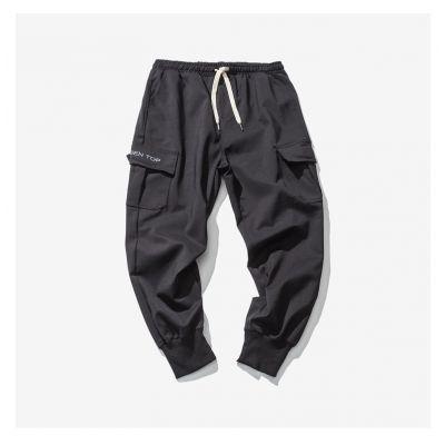 Jogger pants cargo pour homme avec poches côtés et ceinture élastique