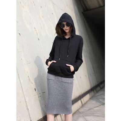 Jupe hiver pour femme moulante avec poches côtés en tricot